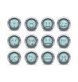 3d silver zodiac signs vector