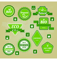 Collection of bio and eco organic labels natural vector
