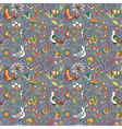 Seamless floral pattern with birds and flowers vector