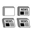 Wavy newspaper black symbols vector