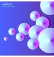 Abstract paper bubbles background with lights vector