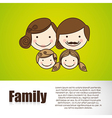 Happy family consists of father mother girl and bo vector