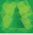 Triangular christmas card vector