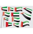 Flag of the united arab emirates vector
