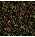 Seamless leaves and flowers pattern vector