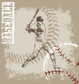 Batter base ball crack vector