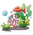 A fish under the sea vector