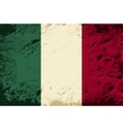 Italian flag grunge background vector