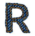 Farmerke tekstura slovo r resize vector
