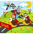 Race snails vector