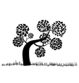 Big curly tree silhouette vector