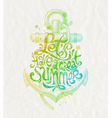 Hand drawn design - summer holidays greeting vector