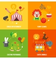 Circus retro icons composition vector