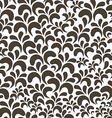 Brown floral vintage seamless pattern on white vector