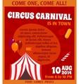 Circus advertising poster vector