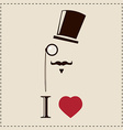 Gentleman hipster card with monocles and a hat vector