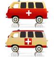 Cartoon ambulance vector