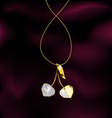 Jewelry cherry vector