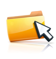 Yellow folder icon vector
