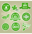 Collection of eco and bio labels badges and icons vector