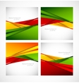 Set of posters vector