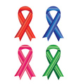 Awareness ribbons isolated on white background vector