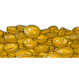 Gold coins of canada vector