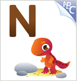 Animal alphabet for the kids n for the newt vector