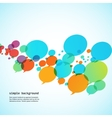 Creative background of colorful speech bubbles eps vector