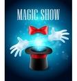 Magic trick performance circus show concept vector