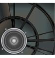 Loud speaker on a metallic background vector