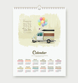 Calendar 2015 happy new year tuk tuk thailand vector