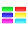 Set of colored glass buttons vector