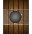 Wooden background with glass vector