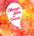 White drawn balloon with message on the lovely vector