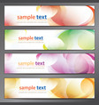 Abstract background business banner set vector