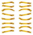Shiny golden ribbons set vector