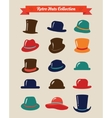 Hipster retro hats vintage icon set vector