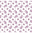 Seamless pattern with hippopotamus in cartoon vector