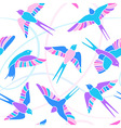 Flight of swallows - mosaic pattern vector
