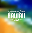 Hawaii touristic card vector