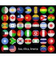 Flags buttons vector