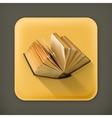 Open book flat icon vector