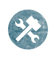Repair icon with wrench and hammer symbol with vector
