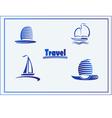 Set of symbols yachts ships vector