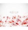 Abstract wavy lines modern template vector
