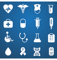 Medical icons white vector
