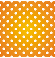 Seamless pattern white polka dots on yellow vector