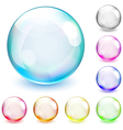 Multicolored opaque spheres vector