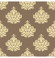 Retro yellow floral seamless pattern background vector